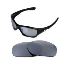 NEW POLARIZED REPLACEMENT SILVER ICE LENS FOR OAKLEY PIT BULL SUNGLASSES